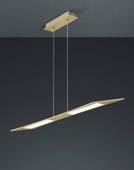 Trendige LED Pendelleuchte FLAT Messing matt TRIO Leuchten