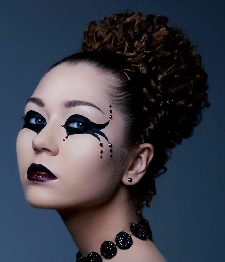 Maquillage Halloween simple et joli  50 idées en images