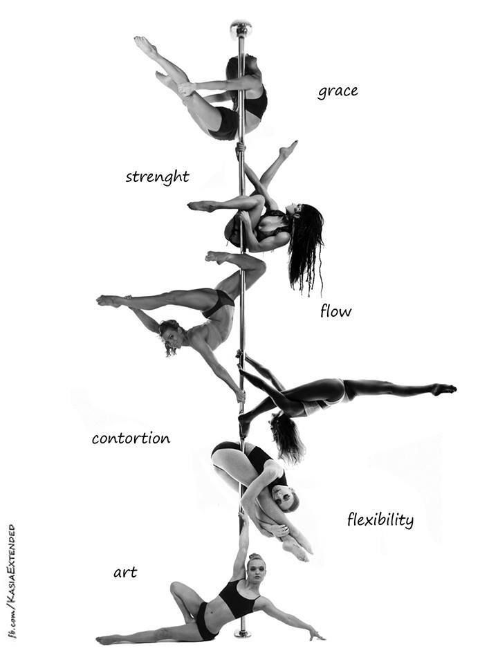 Grace, strength, flow, contortion, flexibility, and art......That's what Pole Dance is about. www.goachi.com