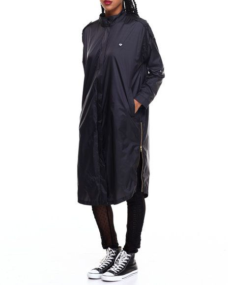 Find Radiant Trench Coat Women's Outerwear from Diamond Supply Co