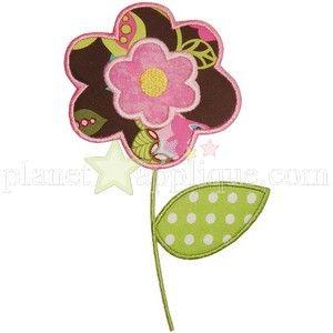 Flower Applique from planet applique