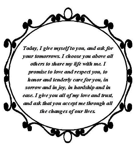 Sample wedding vow http://www.Lyssabeths.com