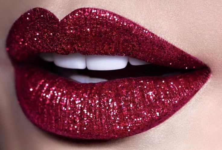 Holiday lips. Infallible Pro Last Lip Colour in Incessant Russet and red glitter.