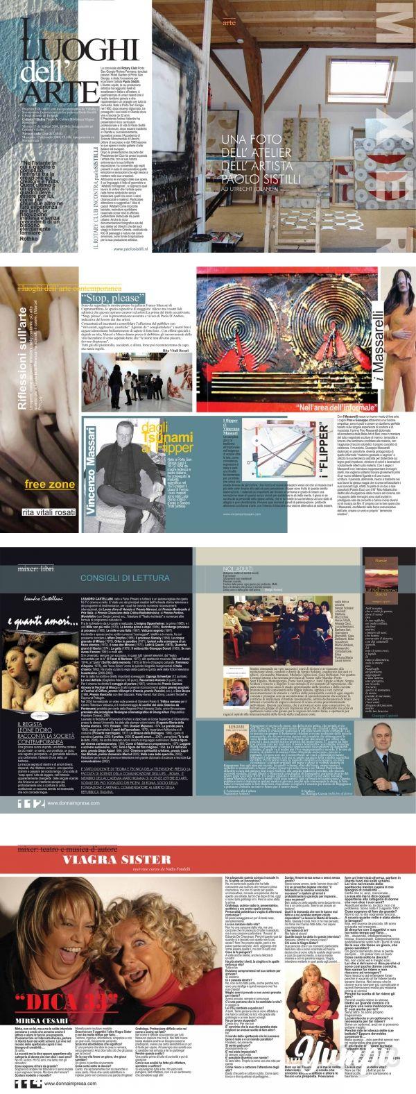 atelier dell' artista paolo sistilli - Donna Impresa Magazine - Magazine with 6 pages: atelier dell' artista paolo sistilli - Donna Impresa Magazine