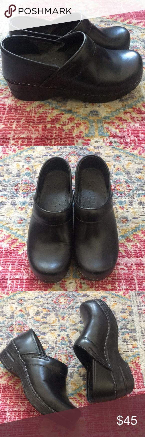 Sanita black leather clogs size 35 Sanita black leather clogs size 35. Gently used no box Sanita Shoes Mules & Clogs