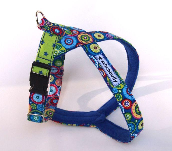 Hunde Geschirr Blue Motion Y Norwerger Step In von stitchbully.de für Hunde auf DaWanda.com