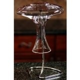 """Oenophilia Decanter Drying Stand - The fastest way to keep condensation from forming in your decanter after washing. Not exactly an eyesore on the countertop or bar, either. 12.5""""H x 7""""W.: Cellarsofwin Com, Decanter Dry, Desire Products, Wine Dry, Famous Wine, Dry Stands, Oenophilia Decanter, Cellarsofwinecom 800, Wine Decanter"""