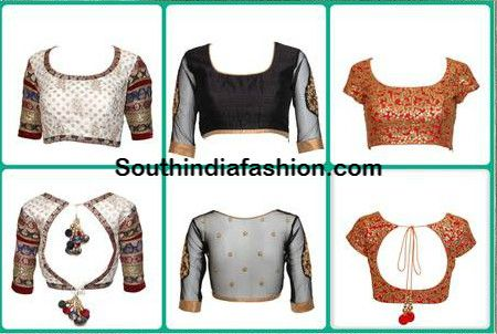 Saree Blouse Designs ~ Celebrity Sarees, Designer Sarees, Bridal Sarees, Latest Blouse Designs 2014 South India Fashion