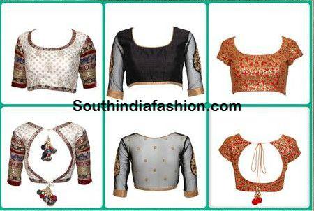 Saree Blouse Designs ~ Celebrity Sarees, Designer Sarees, Bridal Sarees, Latest Blouse Designs 2014 South India Fashion