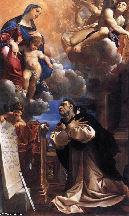 'La Virgen se aparece a San Jacinto', óleo sobre lienzo de Lodovico Carracci (1555-1619, Italy)