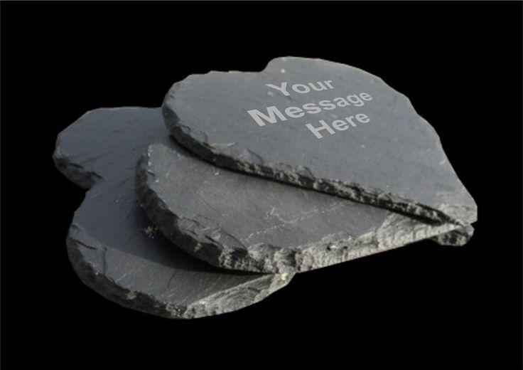 Personalised Heart Slate Coaster - Engraved and Signed