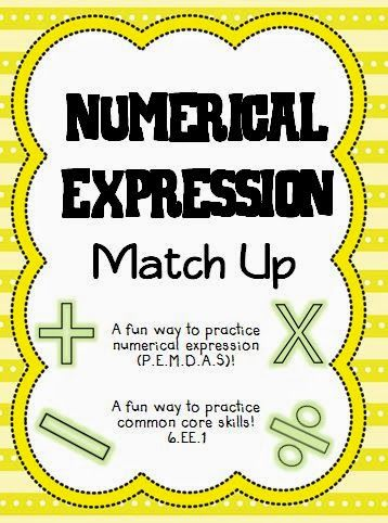 Engaging activity for Numerical Expressions (PEMDAS, Order of Operations)