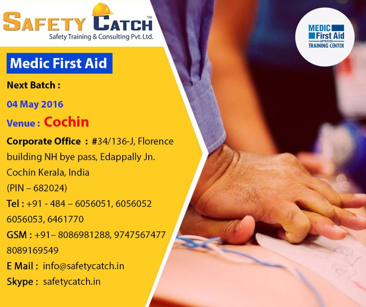 Safety Catch Training, your one source for complete emergency care #training and implementation! #Register today for our next batch of #MedicFirstAid #Training program starting from 4th May 2016: http://bit.ly/MEDIC_FIRST_AID_Training