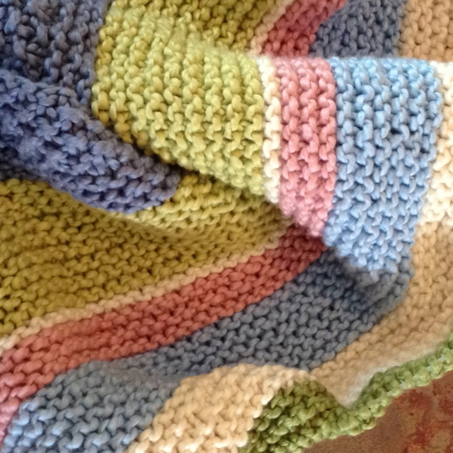 Baby Blanket Knitted With Nature S Choice Organic Yarn