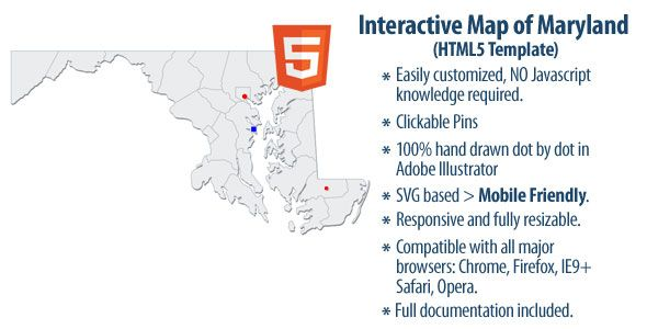Interactive Map Of The US Regions WordPress Plugins Interactive - Interactive us map html5