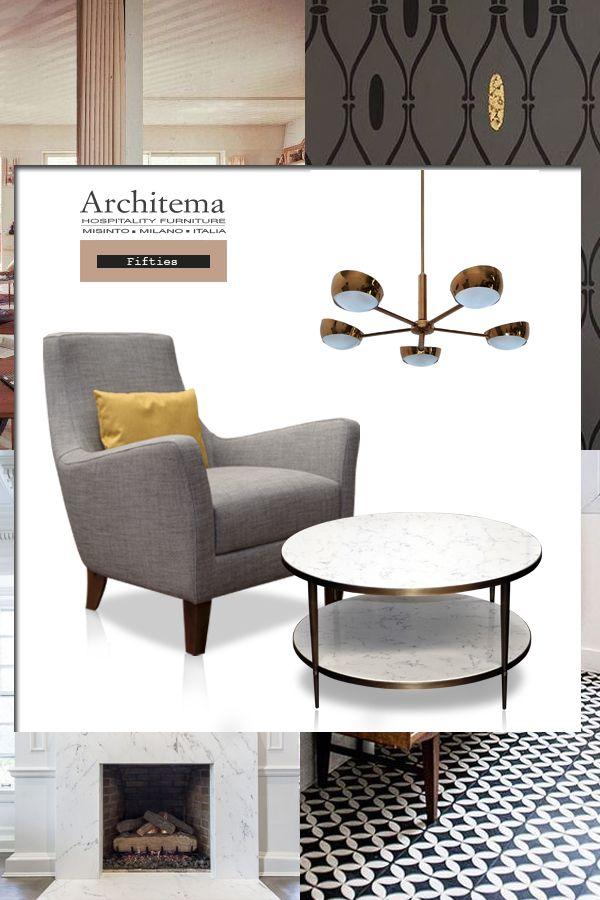 ARCHITEMA - ELVIN armchair & a customized marble table