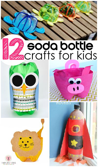 Soda Bottle Craft Ideas for Kids to Make (Find a lion, rocket, owl, turtle, jet packs, and more!)   | CraftyMorning.com