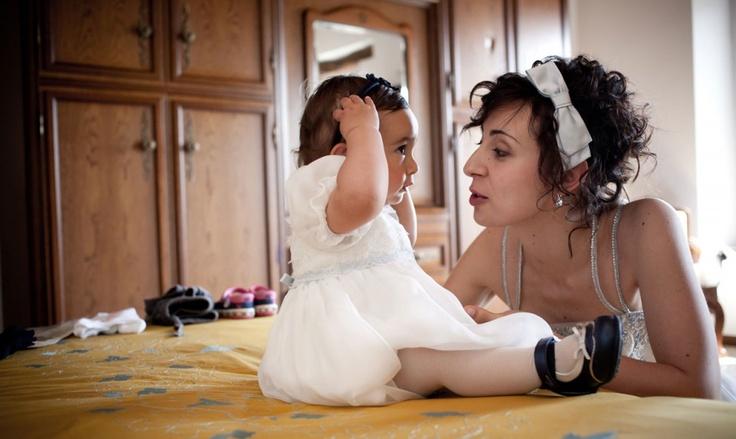 Bellissima Glicine con la sua mamma Chiara | Matrimonio e battesimo