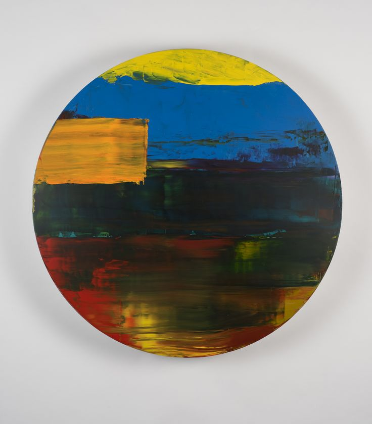 Round 03, 2015, by Pedro Calapez Acrilic on aluminum Diameter 95cm/ depth 15cm