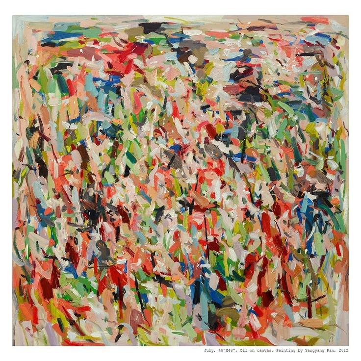 """Saatchi Online Artist: Yangyang pan; Oil, 2012, Painting """"July"""""""