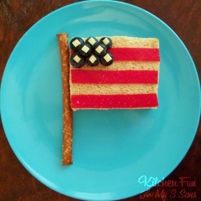 Kitchen Fun With My 3 Sons: 4th of July Flag Lunch