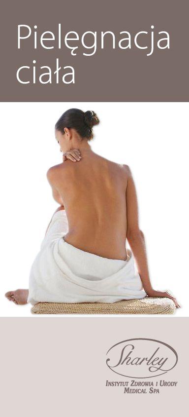 Sharley pomoże Ci w odnalezieniu harmonii ciała i ducha pomogą. Nasi specjaliści od pielęgnacji ciała polecą najlepsze dla każdego rodzaju skóry zabiegi, zmierzą się z każdym wyzwaniem, m.in.:cellulitem, niedoskonałościami skóry i zmęczeniem. Sprawią, że pobyt w naszym Salonie będzie prawdziwą chwilą relaksu oraz, że Państwa ciało będzie zadbane i zdrowe