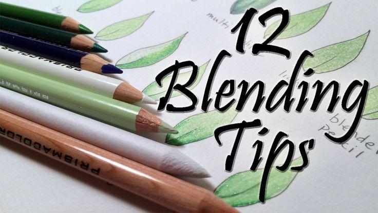 12 Blending Tips for Colored Pencils**Al final del video usa vaselina para colorear. Hay que limpiar el lápiz completamente una vez coloreado con él**
