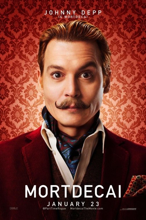 "Pôsteres do filme ""Mortdecai"" com Johnny Depp http://cinemabh.com/imagens/posteres-filme-mortdecai-com-johnny-depp"