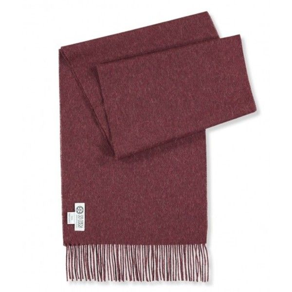 Red Burgundy Baby Alpaca Scarf (57 JOD) ❤ liked on Polyvore featuring men's fashion, men's accessories, men's scarves and mens red scarves