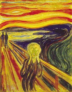 『叫び』 1910年 テンペラ画 ムンク美術館