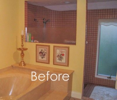 1000 images about colour me happy blog on pinterest red for Peach tile bathroom ideas