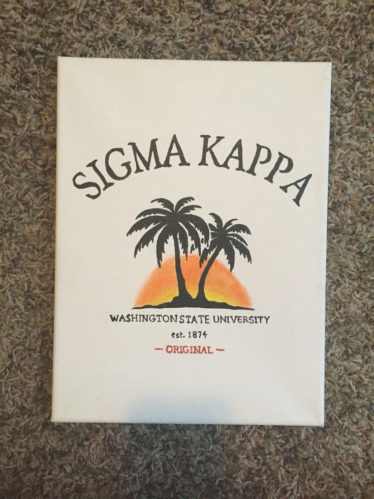 Sorority canvas: Sigma Kappa Malibu
