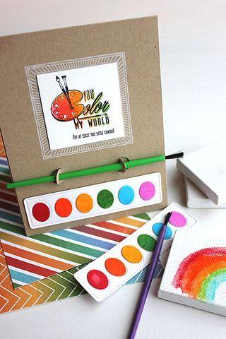 Как покрасить открытку, днем свадьбы