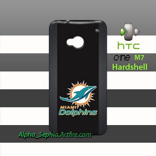 Miami Dolphins Style Metal HTC One M7 Case Cover Hardshell