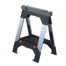 Stanley Telescoping Sawhorse: Use with Saudi Door as table.