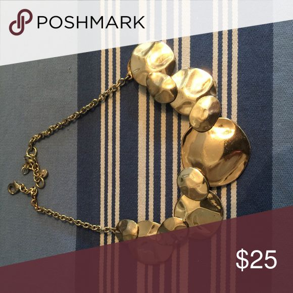 Chunky gold necklace Statement piece. Definitely makes your outfit feel more pulled together. Jewelry Necklaces