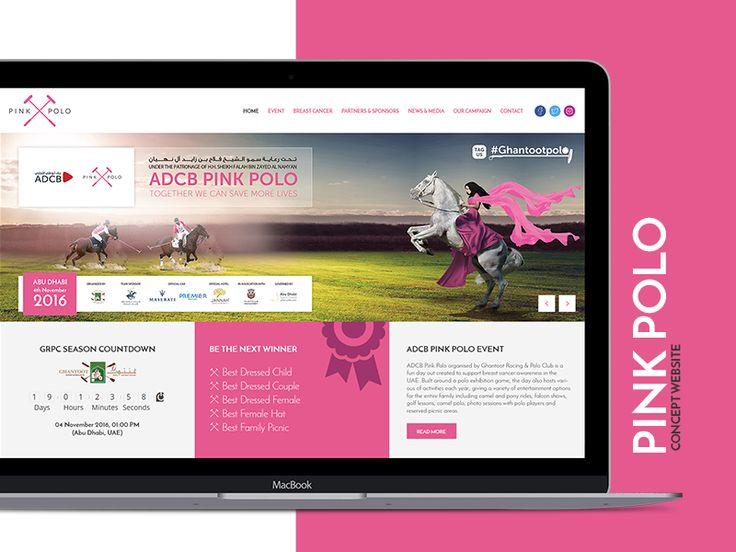 Pink Polo Website Mockup