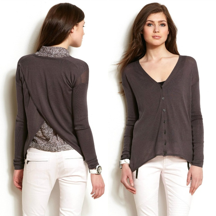 Armani Exchange Womens Draped Back Cardi $98  #armani #women #fashion #outer #cardigan