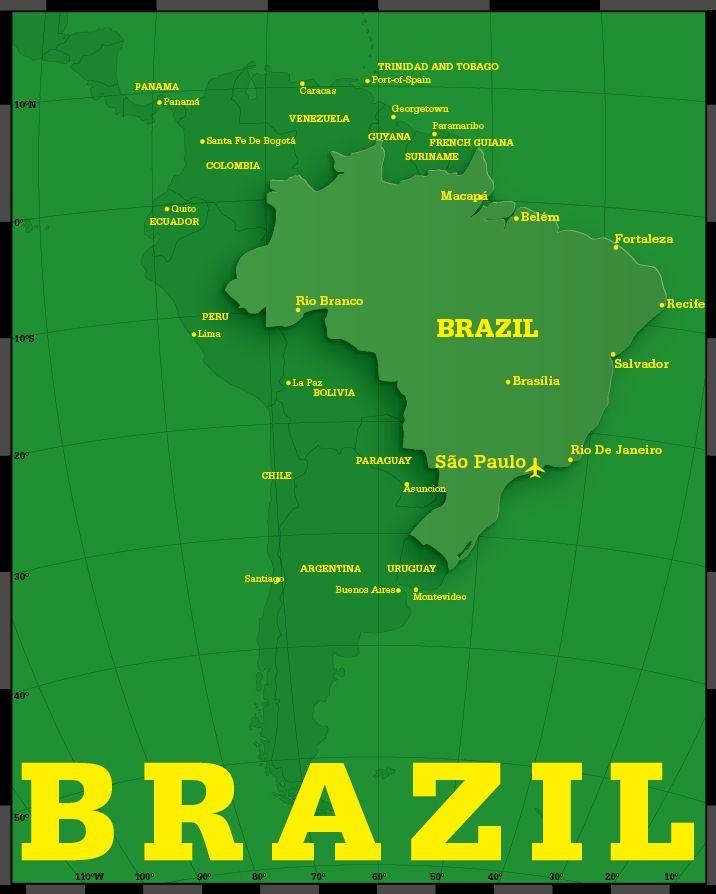Brazil Map Designed by Tawara Takuya