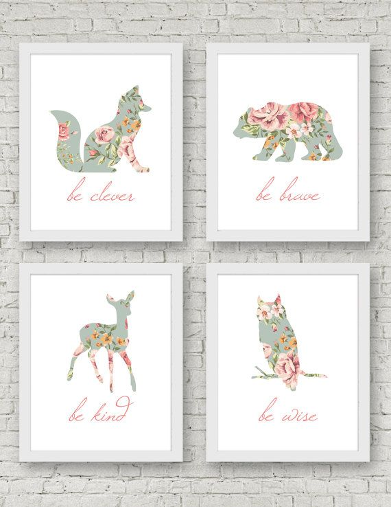 Be Brave Be Kind Be Clever Be Wise Art Print by LittleLionCreative