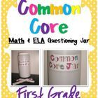 Ela & Math Questioning Jar Bundle!!  A must have for the Common Core Classroom! $14