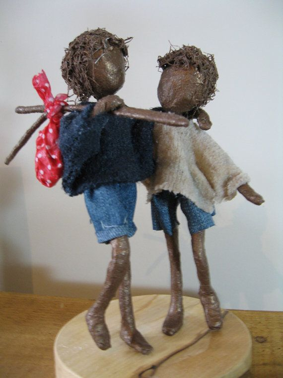 Off on an Adventure. Sculpture of Two Little Children. Friendship sculpture. Available