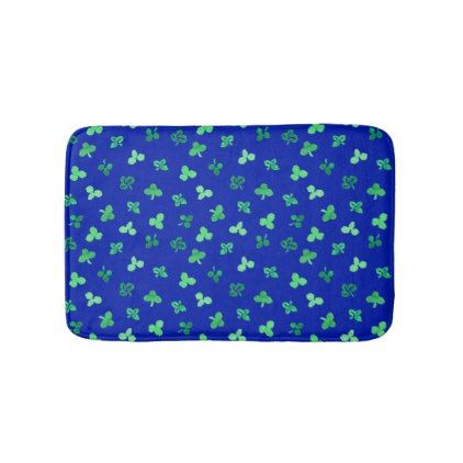 Clover Leaves Small Bath Mat - diy cyo customize create your own personalize