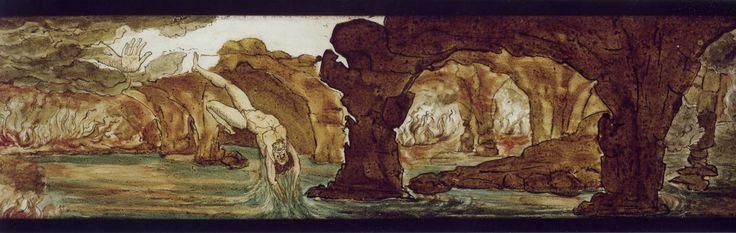 Ognuno ha in sé inferno e paradiso. Oscar Wilde Vetro dipinto per Lanterna Magica, Museo del PRECINEMA.