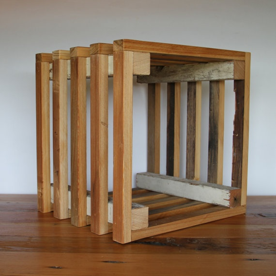 Reclaimed Wood Crate, Made From New Orleans Reclaimed Wood By  RestorationHarbor