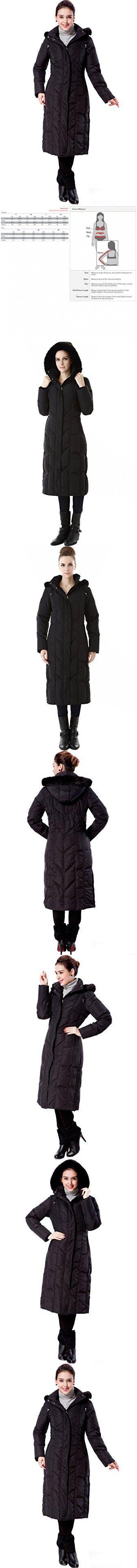"BGSD Women's ""Tisha"" Water Resistant Long Hooded Down Parka Coat - Black Medium"