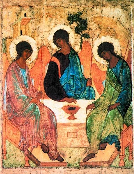 2005.03 // Andriej Rublow, Święta Trójca, tempera na desce, ok. 1420,Galeria Trietiakowska, Moskwa