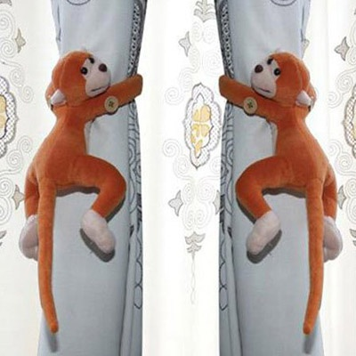 2 x Lovely Long-tail Monkey Window Curtain Tieback Belt Hook Curtain Buckle - Yellow - http://ucables.com/product/2-x-lovely-long-tail-monkey-window-curtain-tieback-belt-hook-curtain-buckle-yellow/