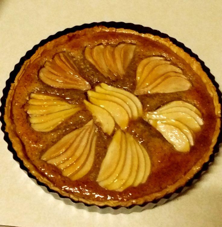 Hazelnut and Pear Tart