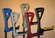 Kule ortopedyczne / Kule łokciowe. Stosowane są do odciążenia nóg po urazach, operacjach itp. Różne rodzaje, wybór w kolorach.